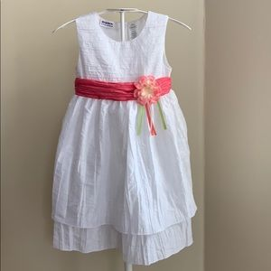 Blueberi Boulevard Tiered Rosette Dress Sz 5